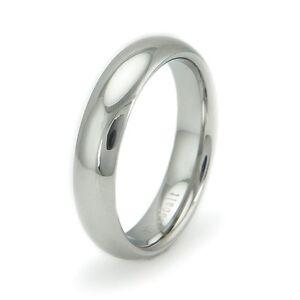 Cobalt Chrome Classic Plain Promise Ring Wedding Band 6MM