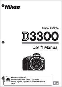 Nikon D3300 User Manual Guide Instruction Operator Manual