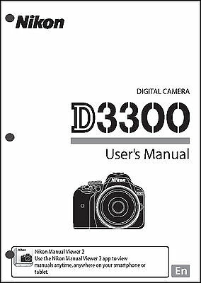 Nikon D3300 User Manual Guide Instruction Operator Manual