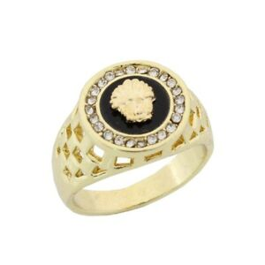 Luxus Ring Lwe Lwenkopf Lwen Siegel Legierung Gold Damen Herren Ringe   eBay