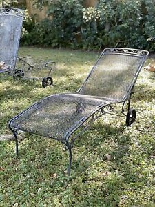 details about vintage woodard wrought iron patio furniture set of 3 lounge chairs
