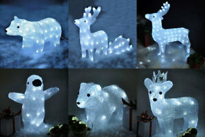 Image Is Loading Light Up Crystal Effect Outdoor Indoor Christmas Decoration