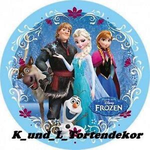 Eisknigin Frozen ANNA ELSA OLAF SVEN Kristoff rund Tortenaufleger Tortenbild  eBay