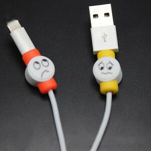 10Pcs Emoji Charger USB Cable Saver Protector For Apple