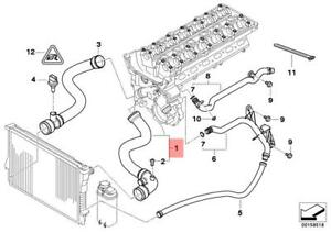Genuine BMW E46 Compact Radiator Cooling System Water Hose