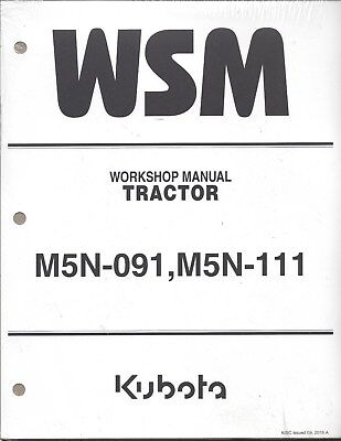 Kubota M5N-091, M5N-111 Tractor Workshop Service Manual