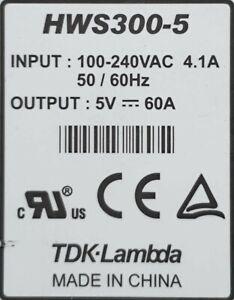 Glamorous Winter 2021 TDK-Lambda HWS300-5 OUTPUT 5V 60A