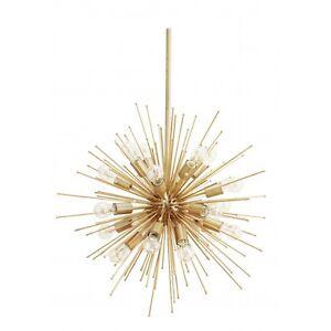 Image Is Loading 20 Lights Mid Century Modern Brass Sputnik Urchin