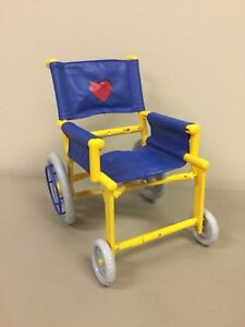 yellow wheelchair jelly lounge chair build a bear folding blue will also fit 18 image is loading