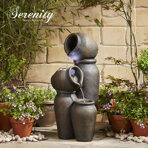 serenity cascading pots water feature