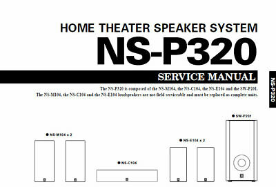 YAMAHA NS-P320 SERVICE MANUAL BOOK IN ENGLISH HOME THEATER