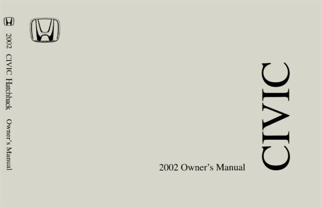 2002 Honda Civic Hatchback Owners Manual User Guide