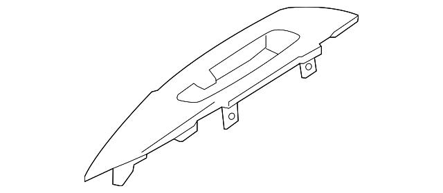 OEM Nissan Rogue Door Switch Bezel Trim Passenger Side