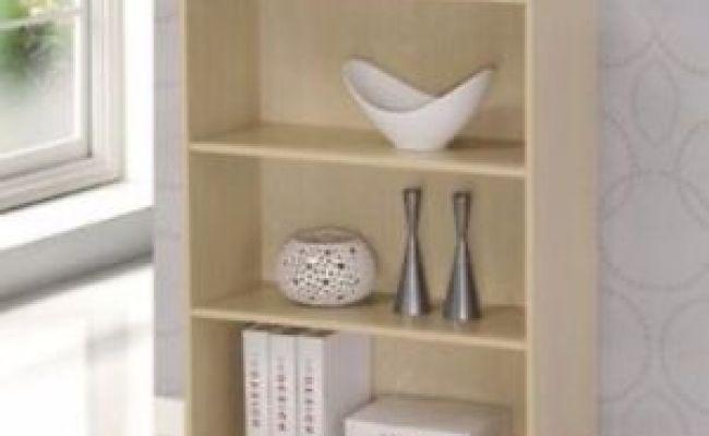 Small Wood Bookcase 3 Shelf Book Storage Bookshelf Home
