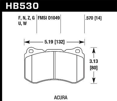 Disc Brake Pad Set-Base Front Hawk Perf HB530N.570 fits