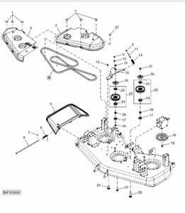 Genuine John Deere 1445 60 Inch Deck Drive Belt TCU13401