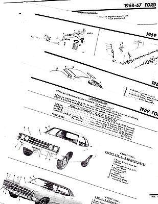 1967 1968 1969 FORD GALAXIE 500 XL LTD BODY PARTS LIST