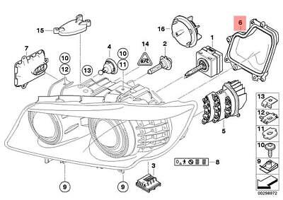 Genuine BMW E90N E91N Sedan Covering Cap Xenon Headlight