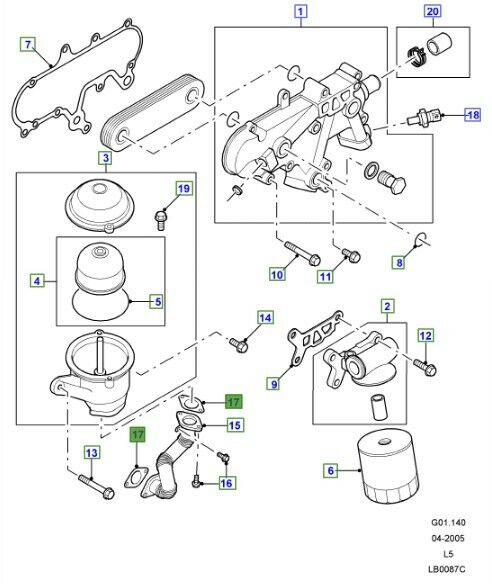 LRJ100000 Gasket Oil Drain Sump Td5 Land Rover Discovery 2
