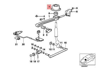 Genuine BMW E31 E32 E34 Shift Lever Trunk Manual