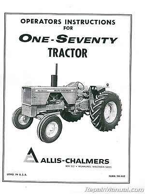 Allis Chalmers 170 Tractor Operators Manual : JS-AC-O-170
