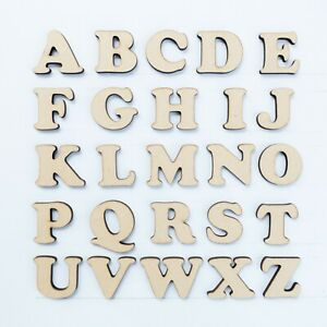 40mm Mdf Craft Letters Wooden Alphabet Letters Numbers Wood Shapes Sets Cb Ebay