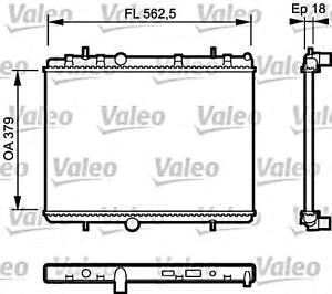 Engine Cooling Radiator VALEO Fits CITROEN Berlingo C4