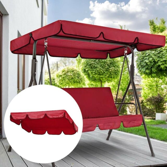 double outdoor garden swing chair cover canopy replacement sun shade cloth l
