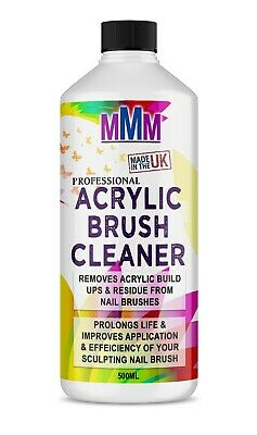 How To Clean Acrylic Nail Brushes : clean, acrylic, brushes, Acrylic, Brush, Cleaner, POWERFUL, Liquid, Brushes, 500ml