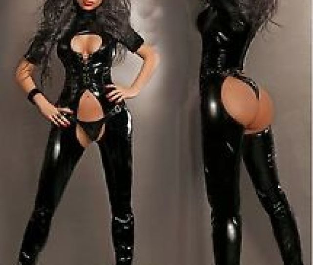 Image Is Loading Catsuit Suit Chaps Overall Pvc Black Vinyl Latex