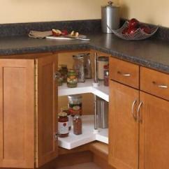 Kitchen Lazy Susan Cabinet Boxes Storage Corner Organizer 2 Shelf Shelves Image Is Loading