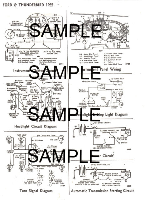 1958 FORD 58 FORD MOTOR COMPANY WIRING GUIDE DIAGRAM CHART