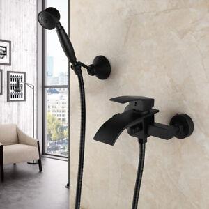 details sur mural lavabo evier cascade noir mitigeur en laiton robinet baignoire
