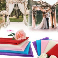 Wedding Chair Sash Dove Hunting 10m X150cm Organza Roll Sheer Fabric Voile Bows Details About Party Decor