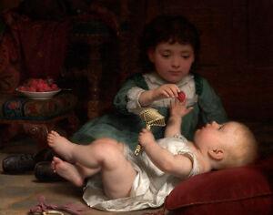 "Seymour Joseph Guy : ""Temptation"" (c1884) — Giclee Fine Art Print"