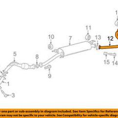 Toyota Rav4 Exhaust System Diagram Nissan Sentra Wiring Radio Oem 16 18 2 5l L4 Tail Pipe 174300v380 Ebay Image Is Loading