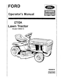 NEW HOLLAND Ford LT10A Lawn Tractor #9809213 TRACTOR