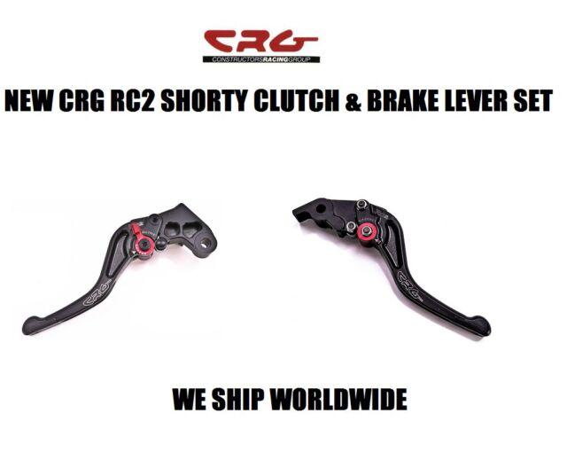 CRG BLACK RC2 SHORTY CLUTCH & BRAKE LEVER SET 00-05