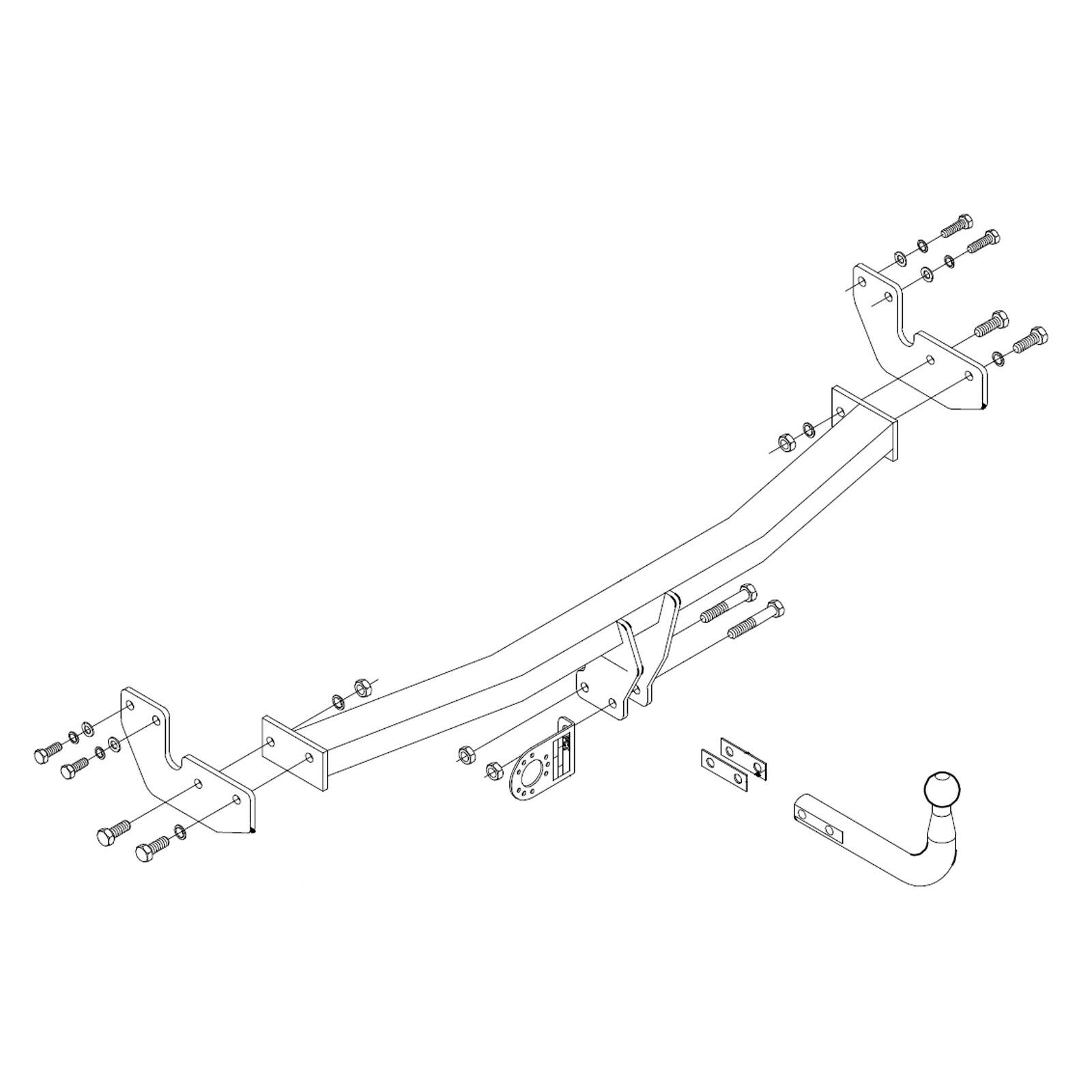 details about towbar for citroen c3 hatchback 2010 2016 swan neck tow bar [ 1600 x 1600 Pixel ]