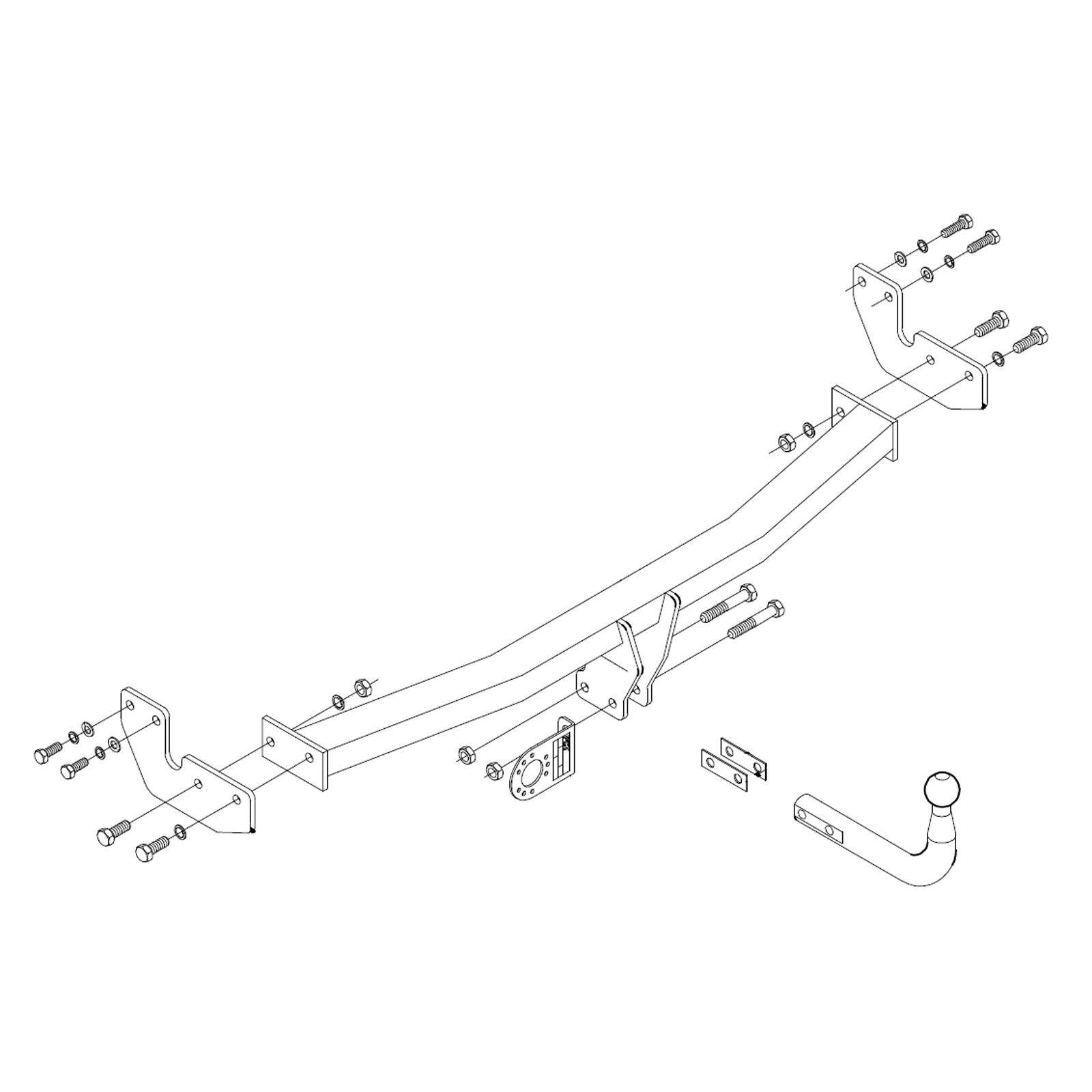 medium resolution of details about towbar for citroen c3 hatchback 2010 2016 swan neck tow bar