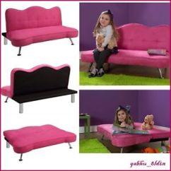 Child Sleeper Sofa Fresno Sofascore Pink Kids Girls Futon Couch Lounge Chair Chaise