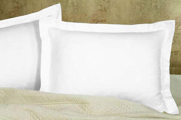 solid white pillow sham pair 800 tc