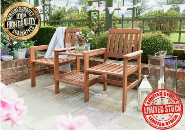garden love seat table chair set companion wooden bench outdoor patio furniture