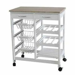 Kitchen Trolley Inside Cabinet Storage G4rce Rolling Cart Island Portable Serving Utility Image Is Loading