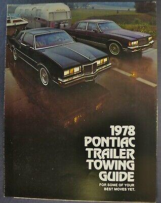 1978 Pontiac Grand Prix : pontiac, grand, Pontiac, Towing, Brochure, Grand, Bonneville, Catalina, LeMans, Wagon