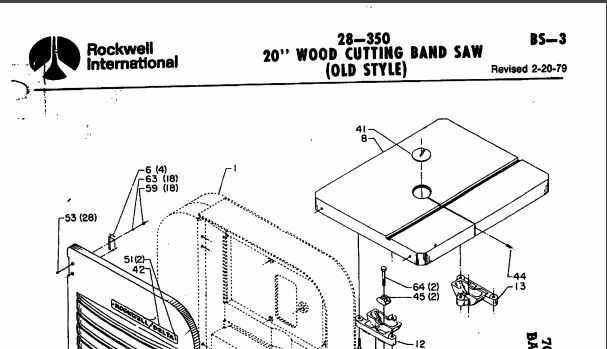 Delta Band Saw Parts Diagram