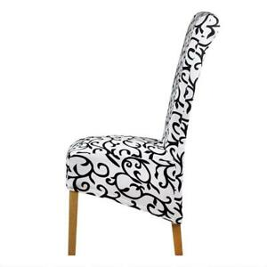 how to make easy chair covers for wedding office wheels india white and black long back cover checked pattern image is loading