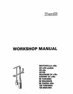 Benelli Service Workshop Manual MAGNUM 3V, EXPORT 3V, 50