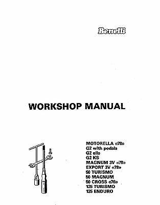 Benelli Service Workshop Manual MAGNUM 3V, EXPORT 3V, 50