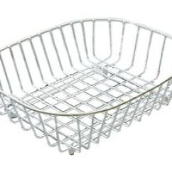 Kitchen Drainer Basket Tall Small Table Delfinware Wireware White Dish Sink Strainer Image Is Loading